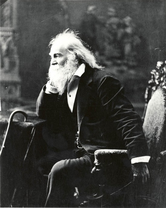 Walt Whitman - Date: Boston, 1881. Foto por: Bartlett F. Kenny Cortesía Biblioteca del Congreso de Washington. Licencia Creative Commons Attribution-NonCommercial-ShareAlike 3.0 Unported