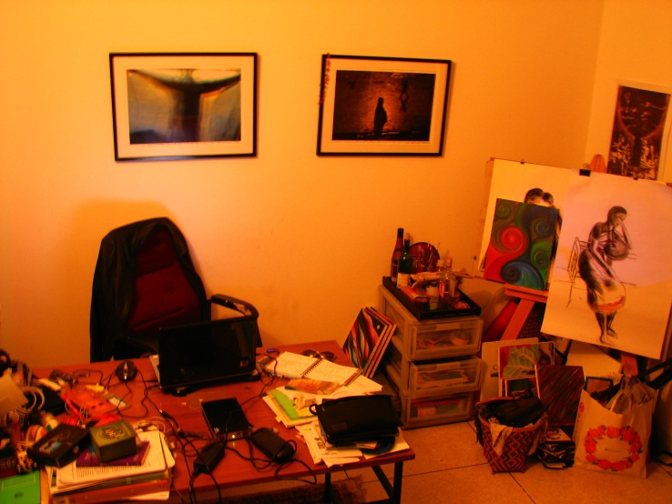 Un aspecto de mi estudio en Dhaka 2007