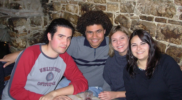 Ricardo, Riera, Héctor Palacios, Sofía Kariakin y Kira Kariakin.