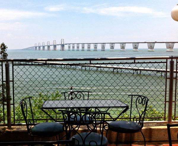 Vista del puente sobre el Lago de Maracaibo