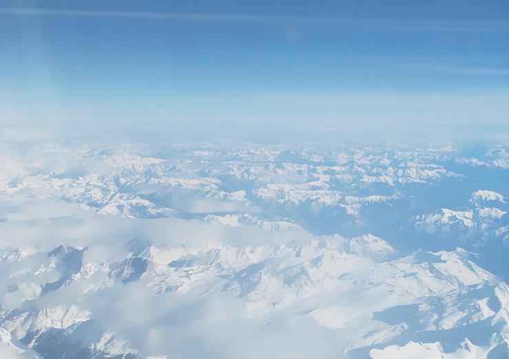 Los Alpes desde el avión - 2009