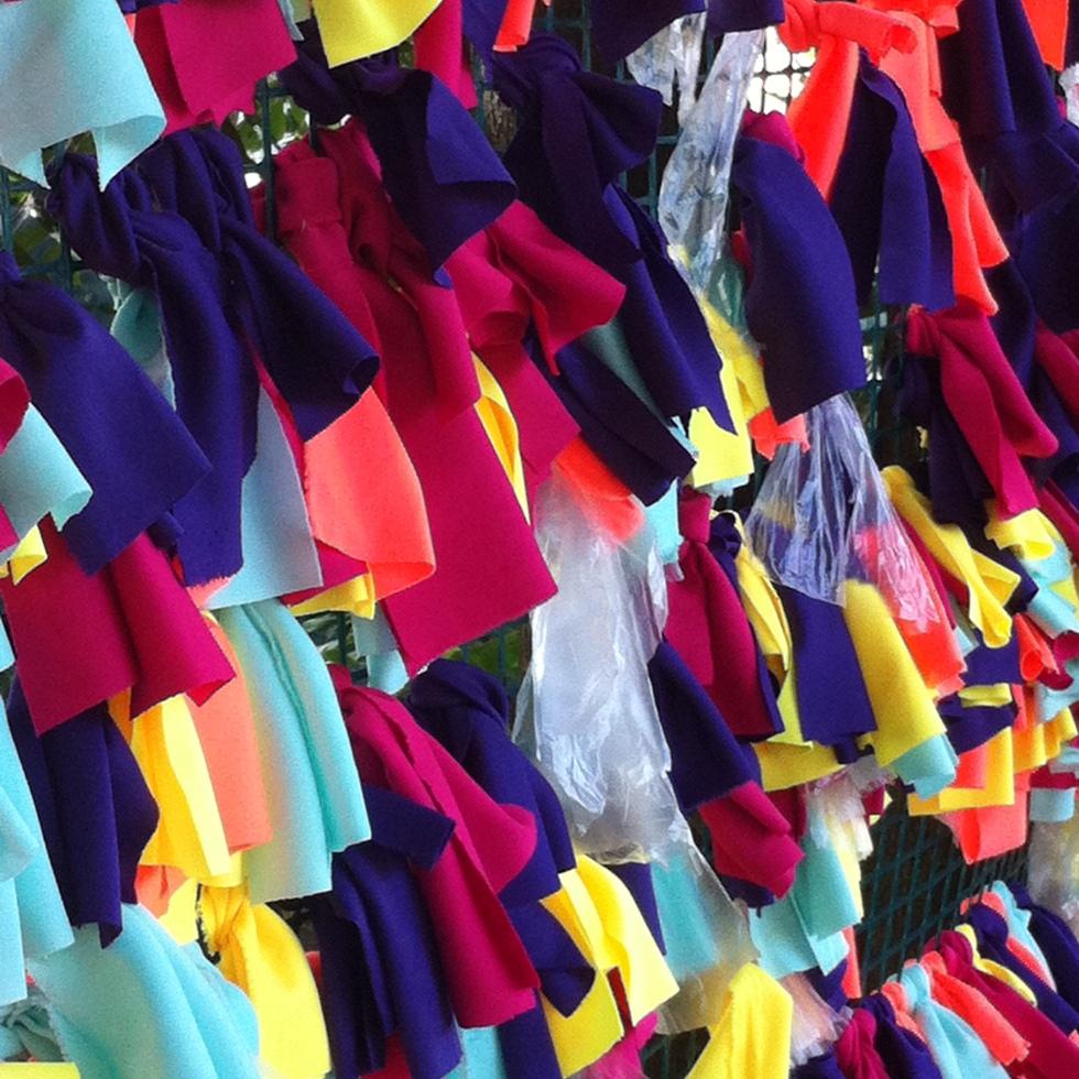 Alfrombra tejida en el encuentro de tejedores. Hacienda la Trinidad 21/07/2013