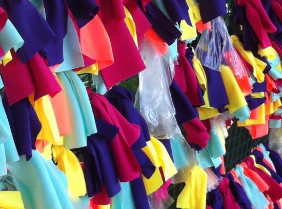 Detalle de alfrombra tejida por niños en el Encuentro de Tejedores. Hacienda la Trinidad 21/07/2013